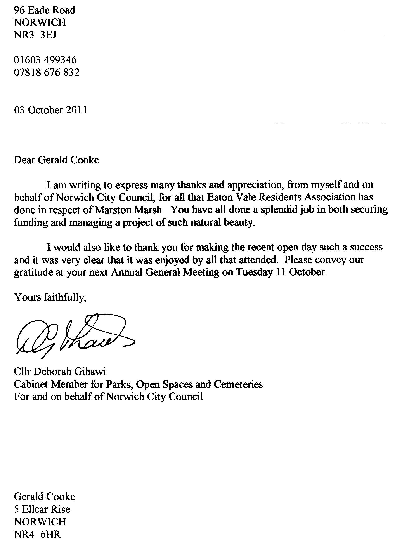 work letter
