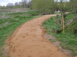 Section of path after renovation